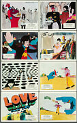 Yellow Submarine United Artists 1968 British Front Of House Lobby Card Set Of 8