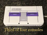 New Nintendo 3ds Xl Snes Edition Collector's Item W/charger And Stylus 3console