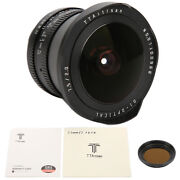 7.5mm F2.0 Fisheye Lens For Eos.m Mount Lens W/nd1000 Filter For Canon Eos Camer