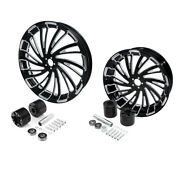 23 Front 18and039and039 Rear Wheels Rim W/ Disc Hub Fit For Harley Road King Glide 08-up