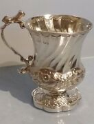 1824 George Iv Solid Silver Campana Tankard With Dog Handle Owner Thomas Watson