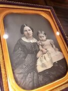 1/4 Daguerreotype Woman And Daughter By Gurney New York
