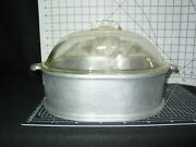 Guardian Service Cookware - Vintage Aluminum - Roaster With Glass Lid