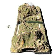 """Large N-scale Model Train Layout 32"""" X 72"""" Two Separate Tracks"""