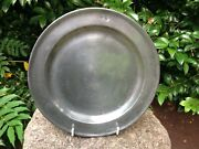Antique English Pewter Charger Dating From The Late 18th/early 19th Century