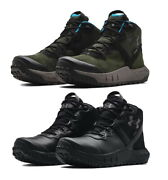 Under Armour Ua Micro G Valsetz Mid Leather Waterproof Tactical Boots 3024334
