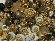 Premium Mixed Lot All Kinds Of Gold And Antique Gold Buttons All Sizes