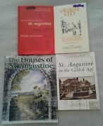 Lot Of 4 St Augustine Florida Oldest City History Books Homes Survival Images