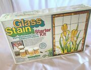 Vintage Stained Glass Starter Kit Iris +10 Additional Patterns New Orig Box