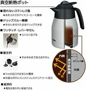 Thermos Vacuum Insulation Pot Coffee Maker 1l White Eck-1000 Wh From Japan [n72]