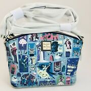 Dooney And Bourke Haunted Mansion Blue Crossbody Hitchhiking Ghost Bride Purse Bag