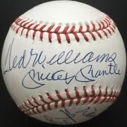 500 Home Run Club Autographed Nl Ball, Mickey Mantle, Ted Williams, 11 Sig, Jsa