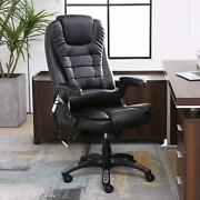 New Office Chair Black Leather Rotary Electric Massage E-sports Chair Recliner