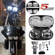 Motorcycle Projector Dual Led Headlight Lamp Fit For Harley Davidson Road Glide