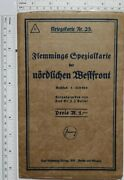 C1917 Map Ww1 Wwi The Western Front German Map Troop Positions German Allied