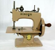 Vintage 1955 Singer Sewhandy 20 Childand039s Sewing Machine W/original Carrying Case