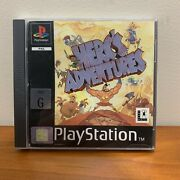 Herc's Adventures Ps1 Playstation 1 Pal Complete W Manual - Rare