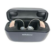 Beltone C-1 Hearing Aids W/ Charger Case Oem Wall Charger And Cord Tested Working