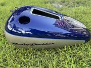Softail Deuce Gas Tank Blue And Silver Like New