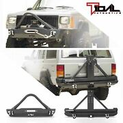 Tidal Stinger Stubby Front Bumper And Rear Bumper Fit 84-01 Cherokee Xj/comanche