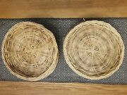 Lot Of 16 Wicker Paper Plate Holders 9.5-10andrdquo Bbq Picnic Party