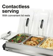 Proctor Silex Food Warmer Buffet Electric Server 3 Tray Chafing Dishe Stainless