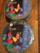 Ge Energy Smart 75-count 37-ft Multicolor C6 Led Christmas String Lights X2