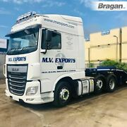 To Fit 2013+ Daf Xf 106 Space Cab Roof Light Bar + Jumbo Led Spot + Clear Beacon