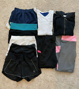 Lot Of 9 Pcs Womenand039s Exercise Athletic Workout Clothing Shorts Pants Tops - S/xs