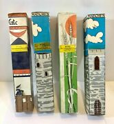 Vintage Fireplace Safety Matches Bbq 11 Long 70's 4 Boxes 90ct, Sealed