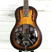 Royall '29 Triolian Style All Flame Maple Single Cone Resonator With Case