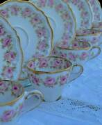 Haviland Limoges 5 Cup And Saucer Fabulous Roses An Gilding Decor