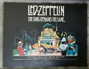 Led Zeppelin The Song Remains The Same 1976 Uk Quad Poster . 30 X 40 On Linen .