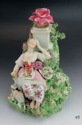 Antique C1760 Rococo English Derby Porcelain Woman And Lamb Figurine/statue