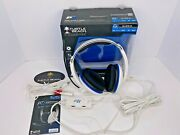 Turtle Beach Ear Force P11 Wired White/blue Gaming Headset Ps3 Pc 3.5mm Jack