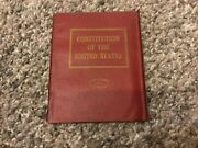 Little Leather Library Mini- Constitution Of The Unites States-red