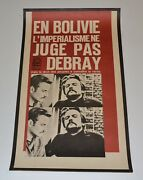 1967 Two Original Cuban Political Posters.bolivia.debray.french/spanish Versions