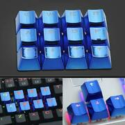 2-key Pbt Keycaps Gold-plated Metal Personality Light Transmission