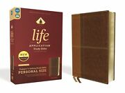 Niv Life Application Study Bible/personal Size Third Edition-brown Leathersoft