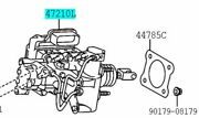 Toyota Genuine 47050-76111 Brake Booster Assy And Master Cylinder Lexus Ct200h