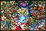 Disney 1000 Piece Puzzle Alice In Wonderland Story Stained Glass Dp-1000-027