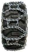 Snow Chains 12-16.5, 12 16.5 Duo Grip Tractor Tire Chains Set Of 2