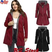 Plus Size Womenand039s Warm Coat Jacket Outwear Trench Winter Hooded Long Parka Tops
