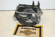 Harley Panhead Motor Front Cylinder Head Repaired Intake + Exhaust Ports