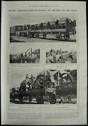 Wwi British Naval Armoured Cars Division 1917 1 Page Photo Article
