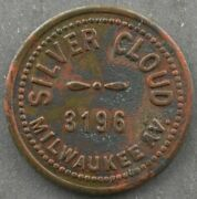 Chicago Illinois Cook Co. - 5 Cent Tavern Token Andndash Silver Cloud 4241