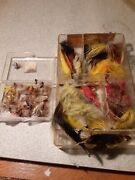 Lot Of Various Fly Fishing Flies In Orvis Case Pre-owned