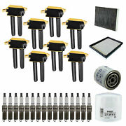 8 Heavy Duty Ignition Coil+ Spark Plug Tune Up Kits For Dodge Charger Uf504