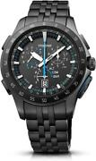 Epson Trume Solar Analog Stainless Steel Black Menand039s Watch Made In Japan