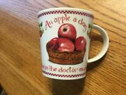 Susan Branch Fine Bone China Apple Mug Cup New In Box Coffee Tea Sold Out